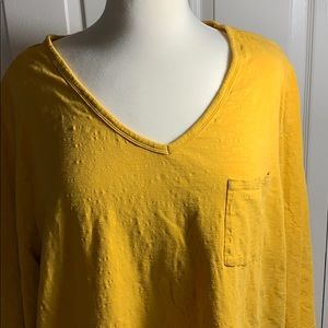 Catherine's mustard yellow 3/4 length t-shirt